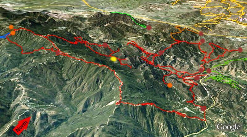 Malibu Creek State Park Agoura Hills Trail Map And Descriptions: Malibu State Park Map At Usa Maps
